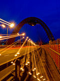 Moscow. scenic bridge. Zhivopisny Bridge in Moscow in the evening in the light of streetlights Royalty Free Stock Image
