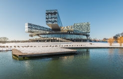 Moscow school of management SKOLKOVO in the winter. Stock Photo