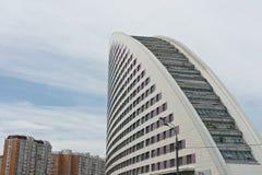 moscow seglar skyskrapan Arkivbilder