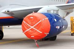 Closed orange protective cover turbine Stock Photo