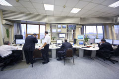 Dispatchers in Sheremetyevo airport Stock Image