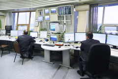 Dispatchers work in Sheremetyevo airport Royalty Free Stock Photography