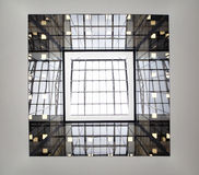 Square window in ceiling in Sheremetyevo Stock Photos
