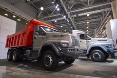MOSCOW, SEP, 5, 2017: View on serial off-road URAL mud truck for hard to reach areas Off road cargo trucks for civil military tran. Sportation. Commercial Stock Photography