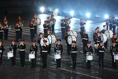 Orchestra of Moscow Suvorov Military Music College Stock Photo