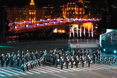Orchestra of Royal Guard performs at festival Stock Image