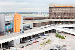 Parking in Sheremetyevo Airport Stock Images