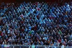 Spectators at Military Music Festival Spasskaya Tower royalty free stock photo