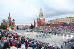 Spectators and Presidential Orchestra of Russia Stock Photos