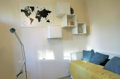 Exposition of apartments interiors. Living room Stock Photography