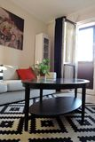 Exposition of apartments interiors. Living room Stock Image