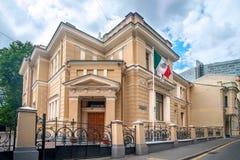 moscow Siedziba ambassador Meksyk w antycznym dworze zdjęcie royalty free