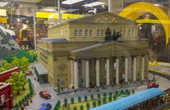 Bolshoi theatre of Moscow cubes. Toy building royalty free stock image