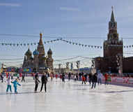 Moscow, skating-rink on Red square Stock Photo