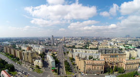 Moscow from the sky Stock Photo