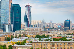 Moscow skyline and Moscow-City Stock Photo