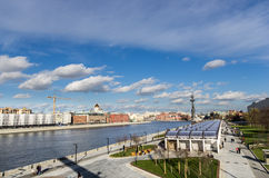 Moscow skyline and peter the great Royalty Free Stock Photos