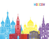 Moscow skyline pop Royalty Free Stock Photos