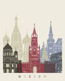 Moscow skyline poster Stock Photos