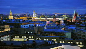 Moscow skyline Stock Image