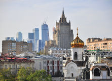 Moscow skyline Royalty Free Stock Images