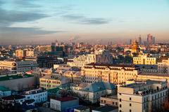 Moscow skyline at the sunset. Russia Stock Images