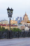 Moscow skyline view from Christ the Savior Cathedral Royalty Free Stock Images