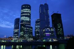 Moscow skyscrapers Stock Photos