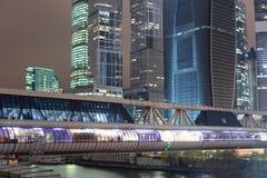 moscow skyskrapor Arkivfoto