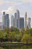 moscow skyskrapor Arkivbild