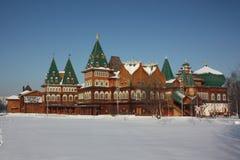 Moscow. Slotten i godset Kolomenskoe. Arkivfoto