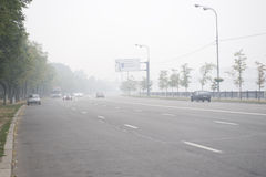 Moscow in the smog Stock Photos