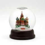 Moscow Snow Globe Stock Image
