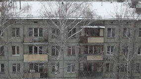Moscow snow, winter, Russia, dark stock footage