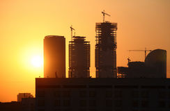 moscow solnedgång Royaltyfria Bilder