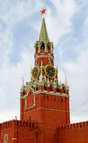 Moscow, Spasskaya Tower. Spasskaya Tower of Moscow Kremlin.rnThe Spasskaya Tower is the main tower with a through-passage on the eastern wall of the Moscow Royalty Free Stock Image