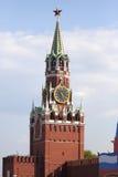 moscow spasskayatorn Royaltyfri Bild
