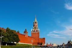 moscow spasskayatorn Arkivfoto
