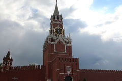 moscow spasskayatorn Arkivbilder