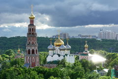 Moscow spring. Novodevichy convent in Moscow Stock Photo