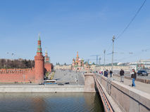 Moscow in the spring Royalty Free Stock Photo
