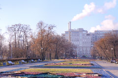 Moscow. Square. Autumn Royalty Free Stock Photography