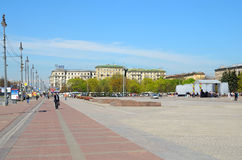 Moscow square in Petersburg, Russia. Royalty Free Stock Photos