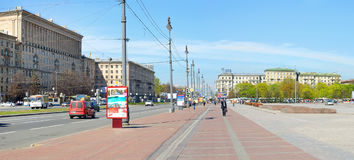 Moscow square in Petersburg, Russia. Royalty Free Stock Photography