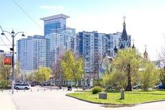 Moscow. Square  Sokolnicheskaya Zastava Royalty Free Stock Photo