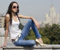 moscow stående Royaltyfri Foto