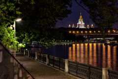 Moscow, St. Andrew promenade and view of the Moscow University Royalty Free Stock Photography