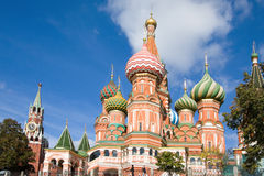Moscow, St.Basil Cathedral Stock Images