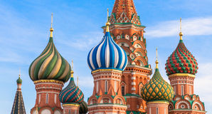 Moscow. St.Basil Cathedral Stock Photography