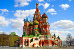 Moscow  St. Basil's Cathedral kremlin  church Stock Image
